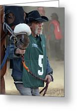 At The Racetrack 5 Greeting Card