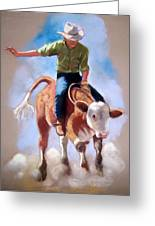 At The Rodeo Greeting Card