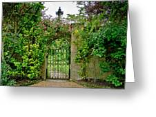 At The Secrete Gate To The Garden. Greeting Card