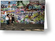 Lennon Wall Greeting Card