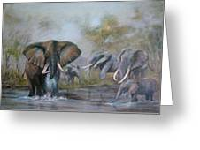 At The Waterhole Greeting Card