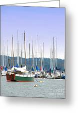 At The Yacht Club Greeting Card