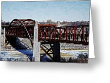 At Three Bridges Park Greeting Card