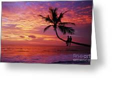 Atardecer En La Palmera Playa Blanca Greeting Card