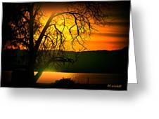 Atardecer Salton Sea Greeting Card