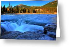 Athabasca Falls In Jasper National Park Greeting Card