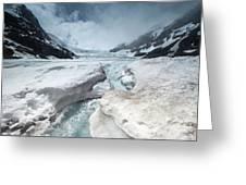 Athabasca Glacier, Alberta, Canada Greeting Card