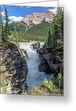 Athabaska Falls, Mt. Hardisty Greeting Card