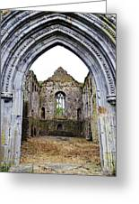 Athassel Priory Tipperary Ireland Medieval Ruins Decorative Arched Doorway Into Great Hall Greeting Card