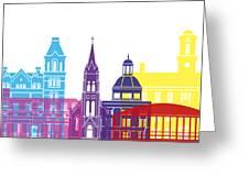 Athens Oh Skyline Pop Greeting Card