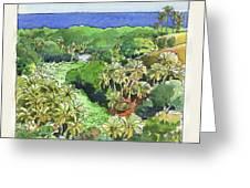 Atiu Lake View Greeting Card