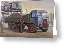 Atkinson At The Docks Greeting Card