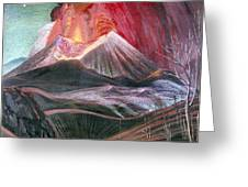 Atl: Volcano, 1943 Greeting Card