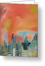 Atlanta Abstract After The Tornado Greeting Card