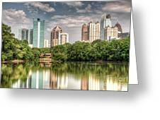 Atlanta As Viewed From Piedmont Park Greeting Card