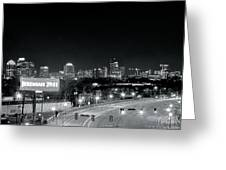 Atlanta Black And White Panorama Greeting Card