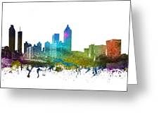 Atlanta Cityscape 01 Greeting Card
