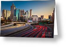 Atlanta Downtown Lights Greeting Card