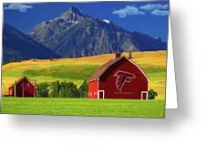 Atlanta Falcons Barn Greeting Card
