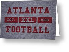 Atlanta Falcons Retro Shirt Greeting Card