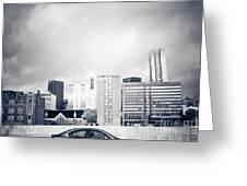 Atlanta Fog Greeting Card