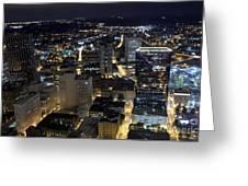 Atlanta Georgia At Night Greeting Card