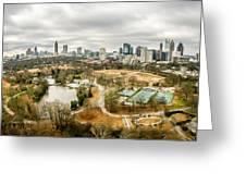 Atlanta Georgia City Skyline Greeting Card