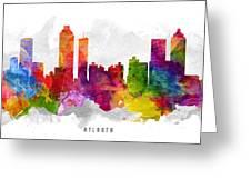 Atlanta Georgia Cityscape 13 Greeting Card