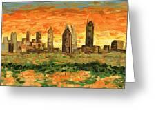 Atlanta Georgia Skyline 10 Greeting Card