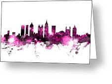 Atlanta Georgia Skyline Pink Greeting Card