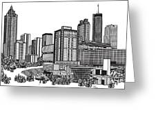 Atlanta Georgia Vector Greeting Card