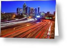 Atlanta Interstate I-85 By Night Greeting Card