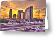 Atlanta Midtown Atlantic Station Sunset Greeting Card