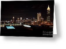 Atlanta Night Skyline Greeting Card