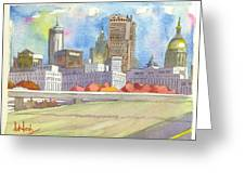Atlanta Skyline Color Greeting Card