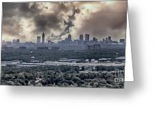 Atlanta Skyline Panoramic Greeting Card