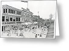 Atlantic City Boardwalk 1900 Greeting Card