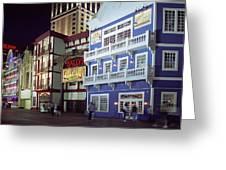 Atlantic City Boardwalk At Night Greeting Card
