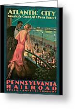 Atlantic City Pennsylvania Railroad Greeting Card