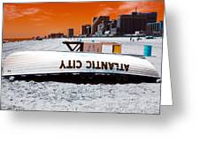 Atlantic City Pop Art Greeting Card