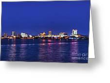 Atlantic City Skyline. Greeting Card
