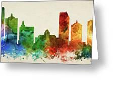Atlantic City Skyline Panorama Usnjac-pa03 Greeting Card