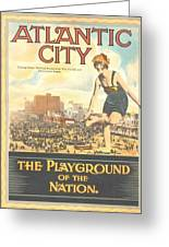 Atlantic City The Playground Of The Nation Greeting Card