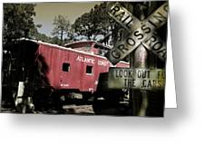 Atlantic Coast  Line Railroad Carriage Greeting Card