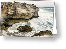 Atlantic Coastline In Bahamas Greeting Card