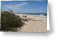 Atlantic Ocean On The East Central Coast Of Florida Greeting Card