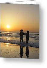 Atlantic Ocean Sunrise - Vertical Greeting Card