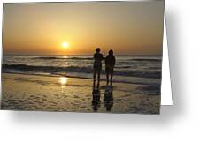 Atlantic Ocean Sunrise Greeting Card