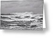 Atlantic Storm In Black And White Greeting Card