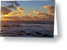Atlantic Sunset Greeting Card